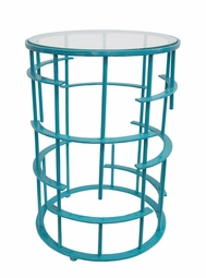 Crestwood Table in Turquoise  <Font color=a8bb35> NEW</font>