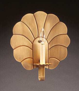 Crimp Round Scallop Wall Sconce