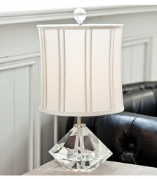 Crystal Facet Lamp w/ Pleated Shade <font color=a8bb35> NEW</font>