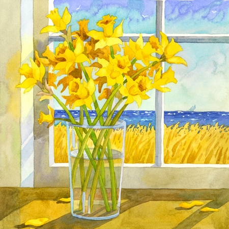 Daffodils in the Window Giclee