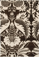 Damask in Brown and Cream Rug