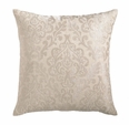 Damask Metallic Embroidered Linen Pillow <font color=a8bb35> NEW</font>