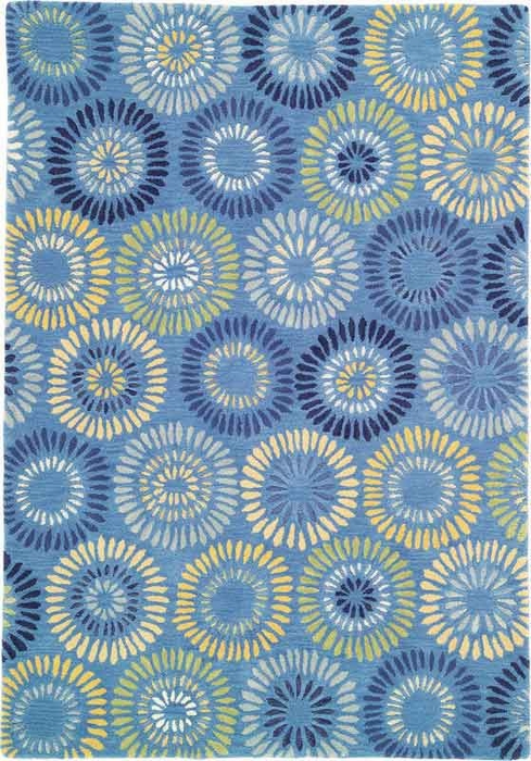 Dandelion Rug in Cornflower