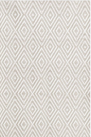 Dash and Albert Diamond Platinum and White Rain or Shine Rug