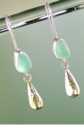 Dipsey Sinker Sea Glass Earring<font color=a8bb35> NEW</font>