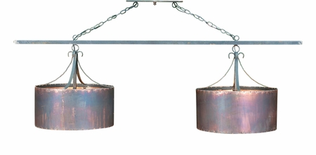 Double Copper Drum Chandelier