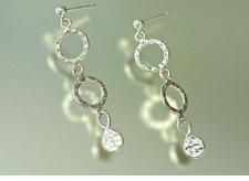 Double Curve Silver Earrings<font color=a8bb35> NEW</font>