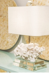 Coral Table Lamp <Font color=a8bb35> NEW</font>