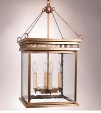 Elryan 4-Light Hanging Lantern with Clear Seedy Glass