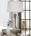 Embossed Silver Vessel Lamp  <font color=a8bb35> NEW </font>
