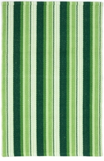 Evergreen Ticking Woven Rug <font color=a8bb35> NEW</font>