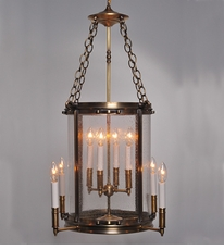 Foyer 8-Light Hanging Fixture with Clear Seedy Glass