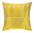 Garden Maze Citron Embroidered Pillow