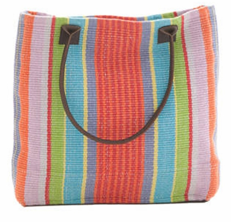 Dash and Albert Garden Stripe Woven Cotton Tote Bag