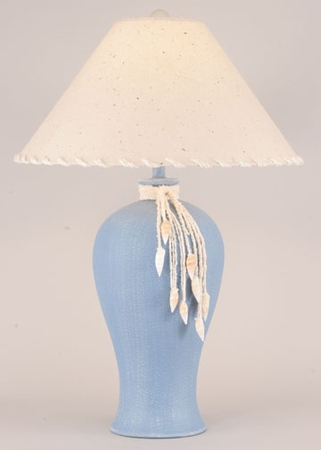 Ginger Jar Lamp with YarnTie & Shells