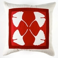 gingko quad in red