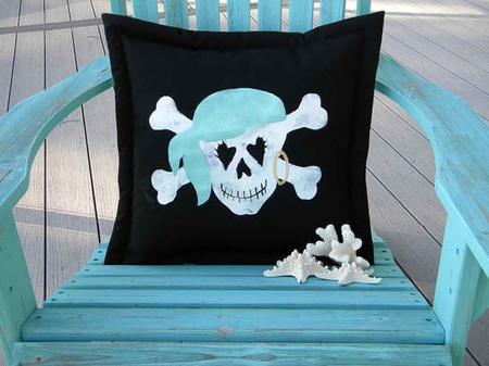 Girl Pirate Pillow