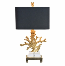 Gold Coral Table Lamp <Font color=a8bb35> NEW</font>