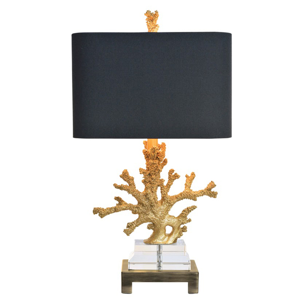 Gold Coral Table Lamp New