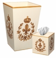 Gold Fleur de Lis on Ivory Bath Set