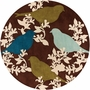 Goldfinch in Chocolate Aqua and Green