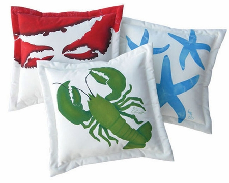 Green Lobster Pillow