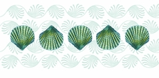 Green Shell Table Runner <font color=a8bb35> NEW</font>