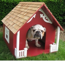 Heart Dog House in Red or White<font color=a8bb35> NEW</font>