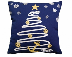 Holiday Rope Christmas Tree Pillow