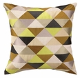 Holister Embroidered Pillow - Grey/Citron