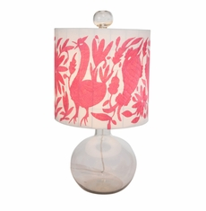 Hunter Table Lamp in Pink<font color=a8bb35> NEW</font>