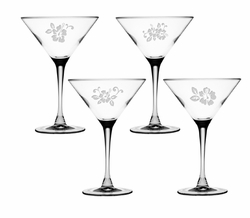 Hyacinth Martini Glass Set of 4 <font color=a8bb35> NEW</font>