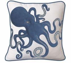 Inkling Octopus Indoor Pillow in Blue<font color=a8bb35> NEW</font>