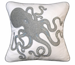 Inkling Octopus Indoor Pillow in Grey<font color=a8bb35> NEW</font>