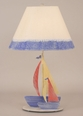Iron Double Sail Boats Lamp