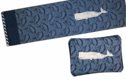 Jacquard Coastal Table Runner and 4 Placemats <font color=a8bb35> NEW</font>