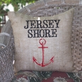 Jersey Shore Burlap Pillow