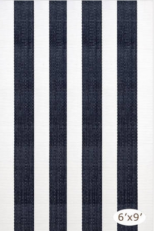 Dash and Albert Lakehouse Navy/White Rain or Shine Rug