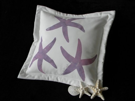 Lavender Sea Stars Pillow