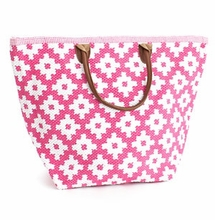 Le Tote Fushia/White Grand <font color=a8bb35> NEW</font>