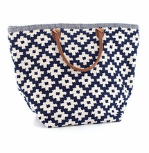 Le Tote Navy/Ivory Grand <font color=a8bb35> NEW</font>