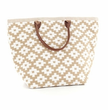 Le Tote Wheat/White Grand <font color=a8bb35> NEW</font>
