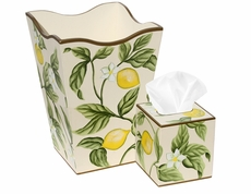 Lemons and Leaves Bath Set