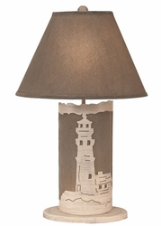 Lighthouse Scene Panel with Nightlight Lamp <font color=a8bb35> NEW</font>
