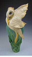 Limited Edition Flame Wing Heron Vase