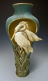 Limited Edition Heron Cut Out Pedestal Vase