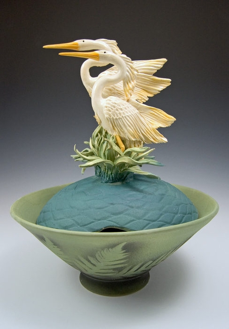 Ceramic Limited Edition Two Herons Bowl