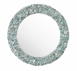 Limpet Shell Mirror in Blue<font color=a8bb35> NEW</font>