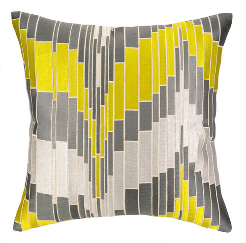 Loomis Citron Embroidered Pillow