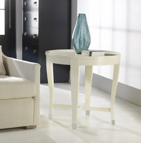 Malibu Transitional Round End Table